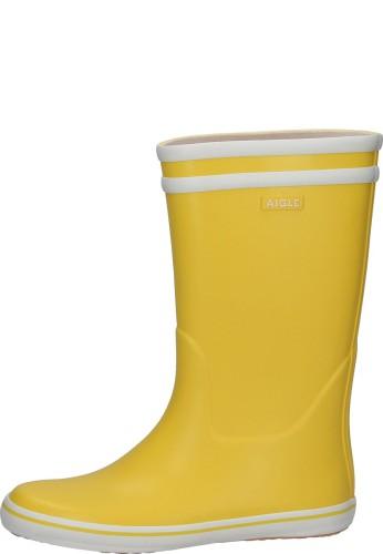 Aigle Gummistiefel - MALOUINE BT jaune/blanc - der moderne Gummistiefel von Aigle im trendigen Gelb