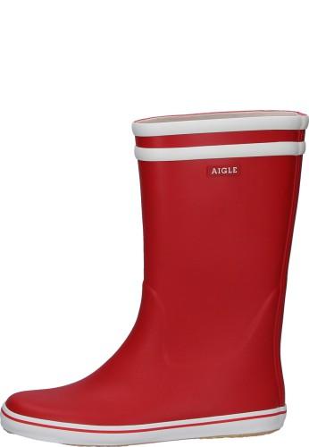 Aigle Gummistiefel - MALOUINE BT rouge/blanc - der moderne Gummistiefel von Aigle im trendigen Rot