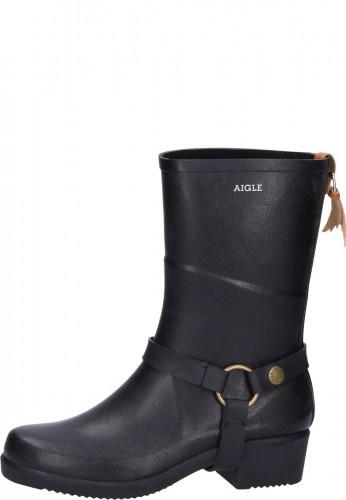Aigle Gummistiefel - MISS JULIE noir - ein stylischer Damenstiefel für alle Anlässe