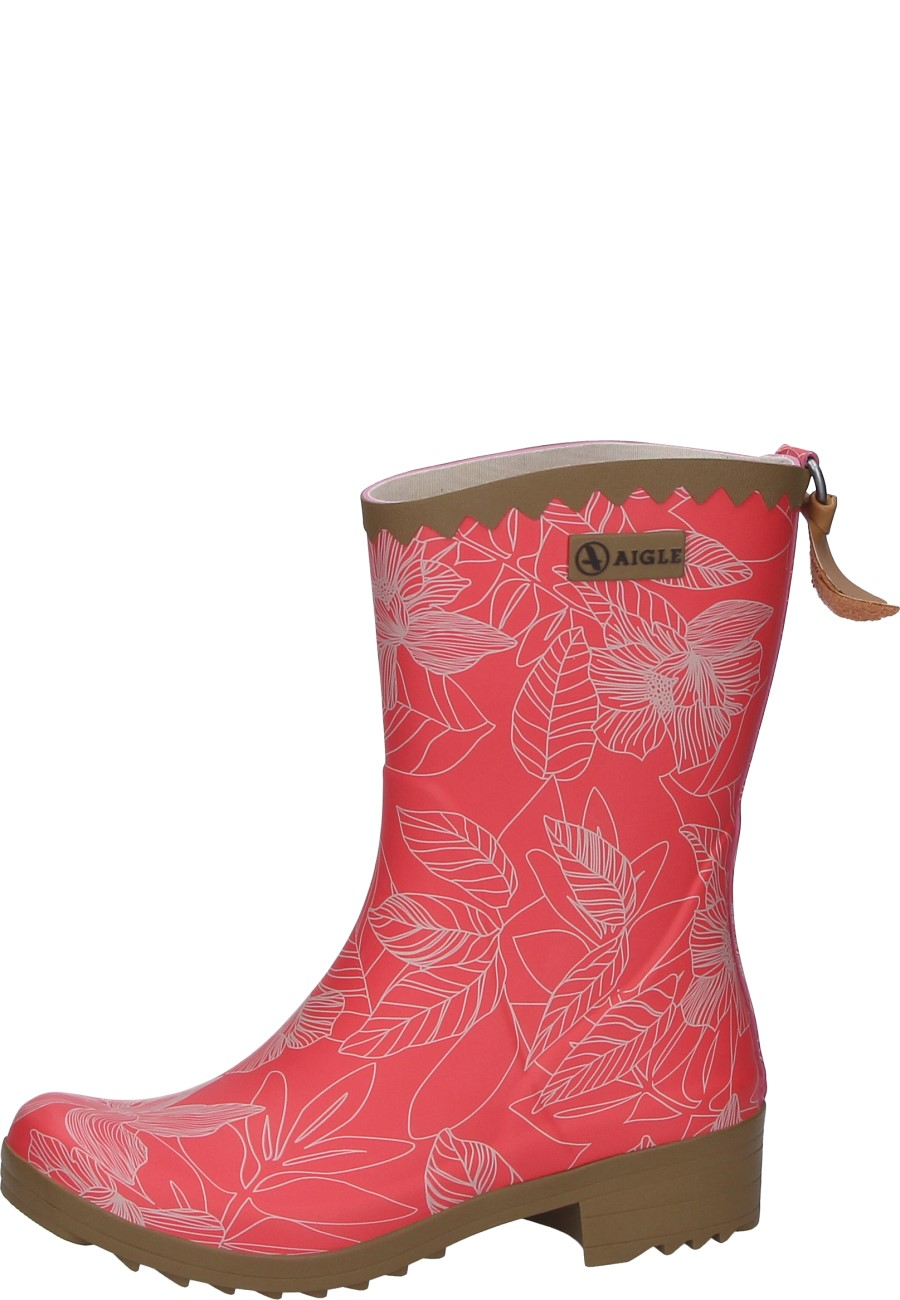 huge discount 0aff3 b1c58 Aigle Damen Gummistiefel VICTORINE BOTTILLON PRINT rasberry/flowerline