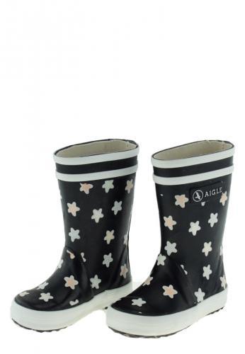 sports shoes bf316 2a6b2 Aigle Kindergummistiefel - LOLLY POP PRINT marine/étoile - der magische  Regenstiefel