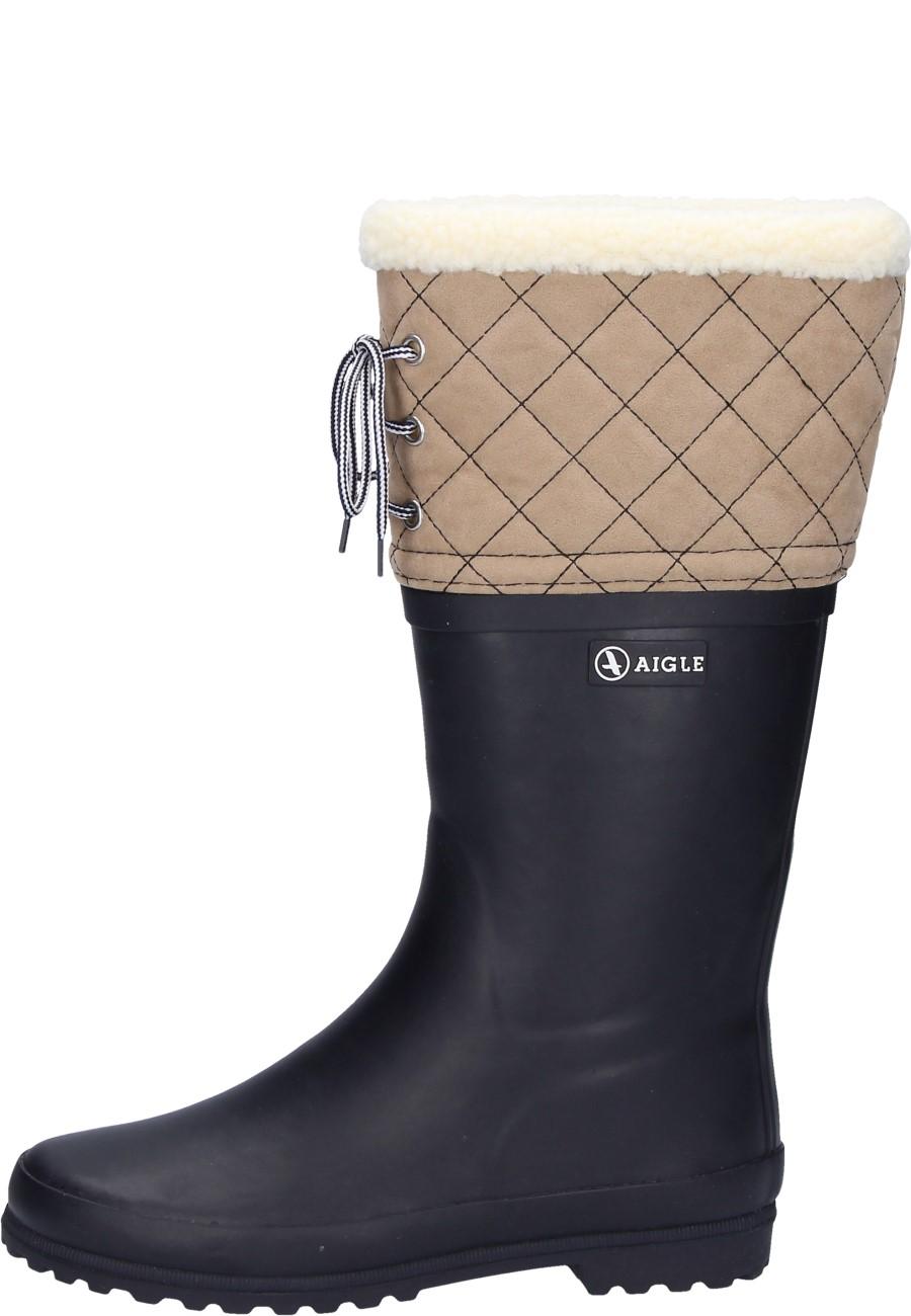 beste Schuhe gehobene Qualität hohe Qualität Aigle Winter Gummistiefel POLKA GIBOULEE marine/beige
