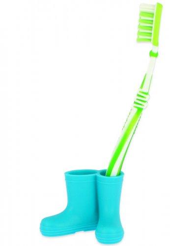 Beck Mini Gummistiefel für Zahnbürsten in blau