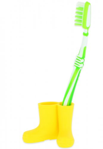 Beck Mini Gummistiefel für Zahnbürsten in gelb