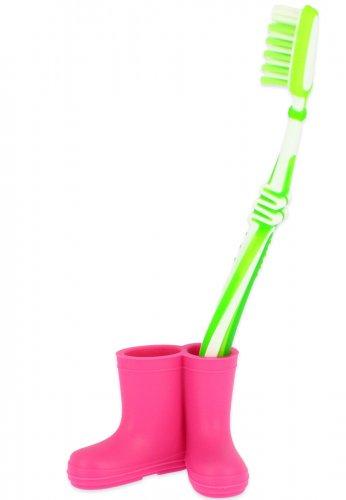 Beck Mini Gummistiefel für Zahnbürsten in pink