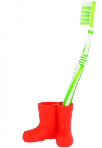 Beck Mini Gummistiefel für Zahnbürsten in rot
