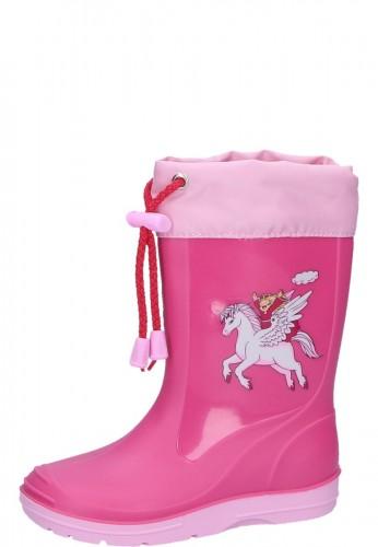 Beck Kindergummistiefel EINHORN pink