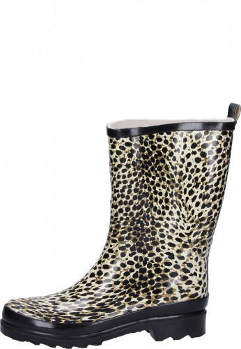 Beck Damen Gummistiefel WILDLIFE mit Leopardenprint