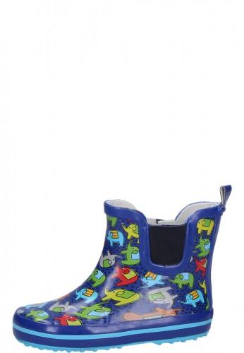Beck Kindergummistiefelette ELEPHANTS blau