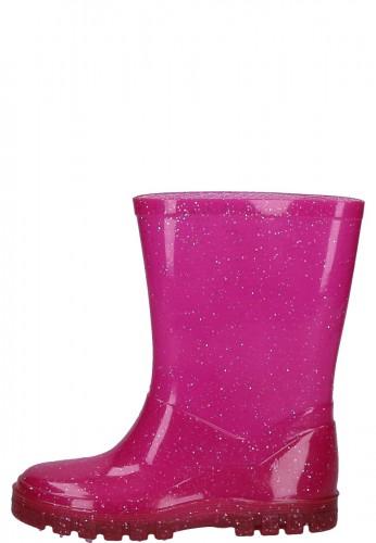 Beck Kindergummistiefel GLITZER pink