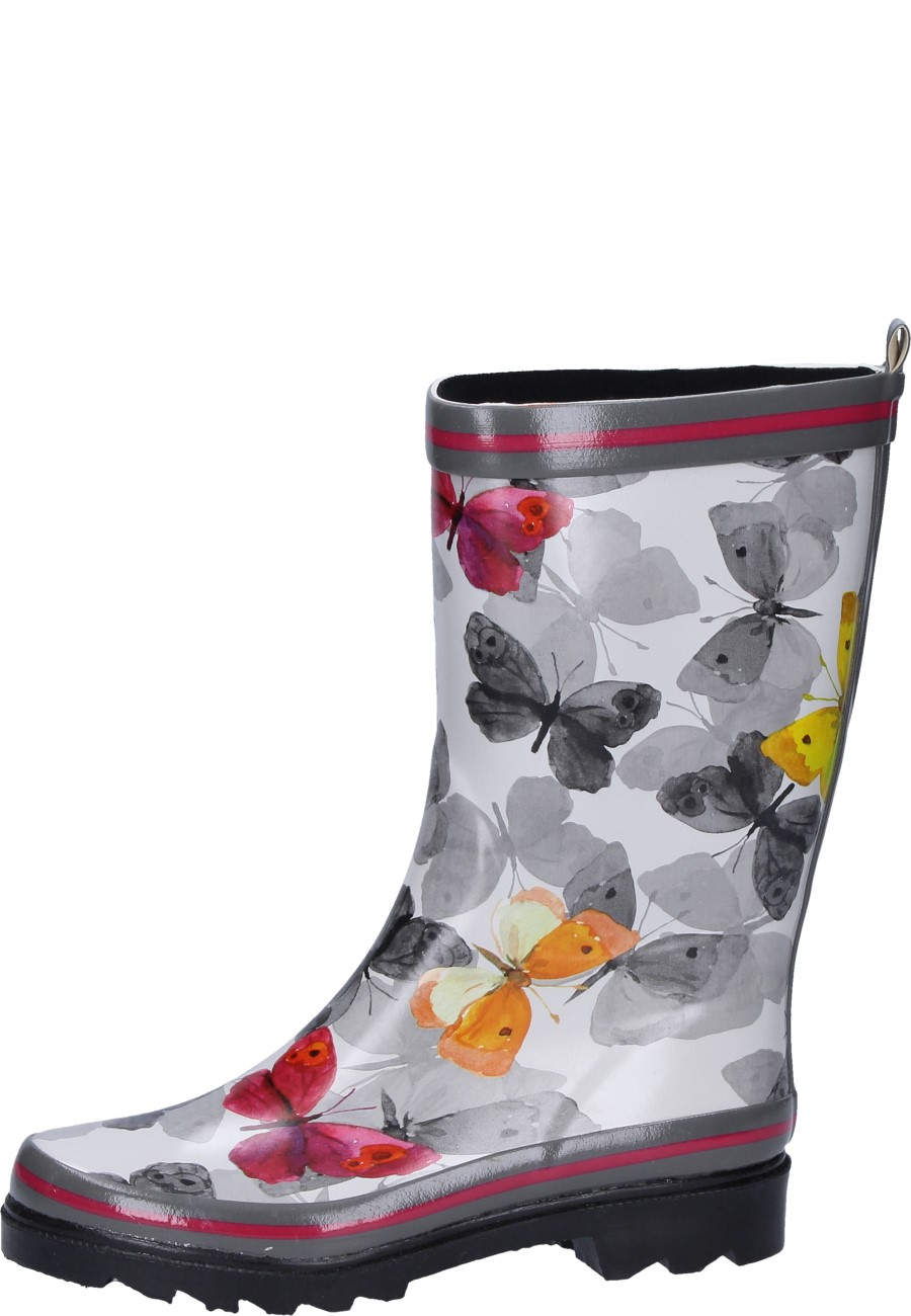 new concept fdbae fa460 Beck Damen Gummistiefel SCHMETTERLING multicolor