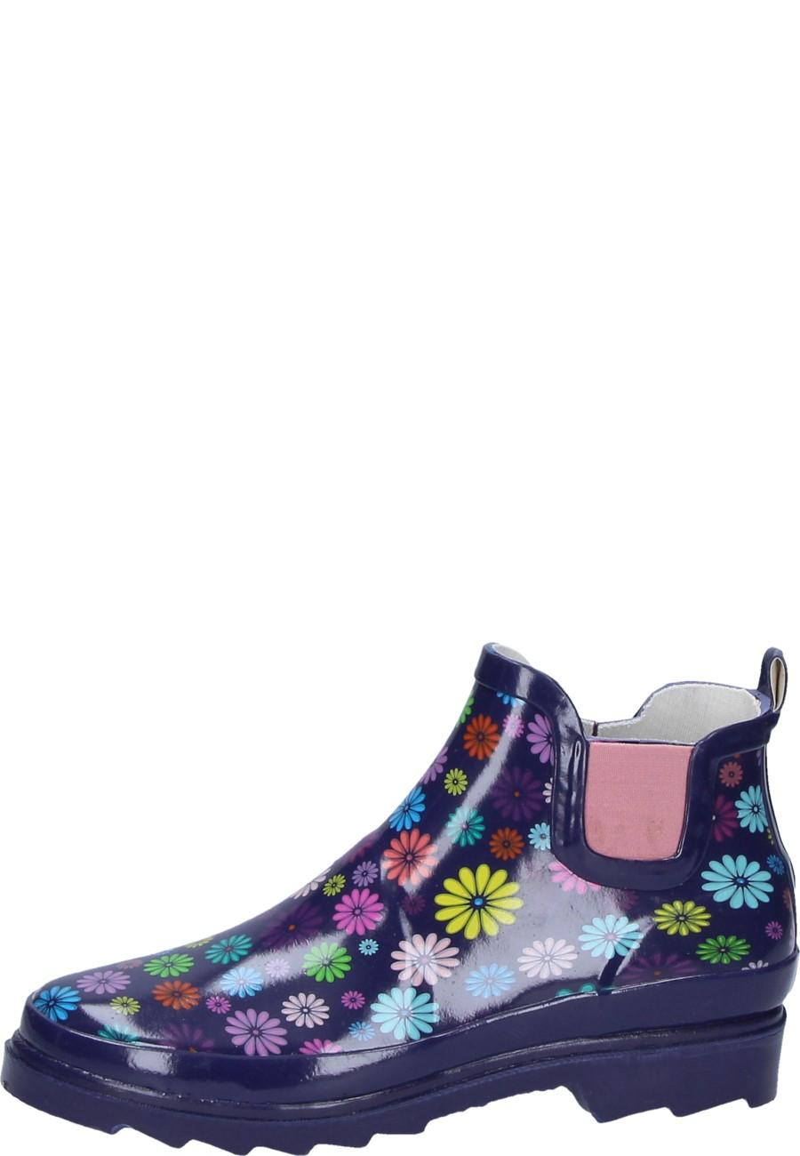 Beck Damen Gummistiefelette BLÜTENMEER lila
