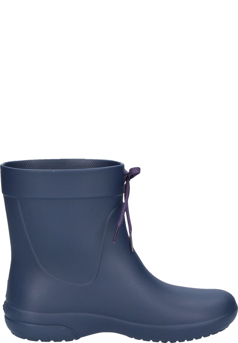best service 396fe f56d9 Damen Gummistiefel CROCS FREESAIL SHORTY RAINBOOT navy