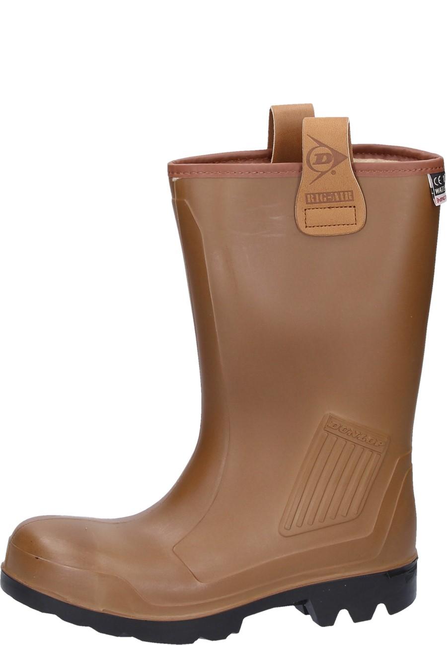 finest selection ea098 31df0 Dunlop Gummistiefel -Rig Air braun Winter- mit Stahlkappe und Trittschutz  als Kurzschaftgummistiefel