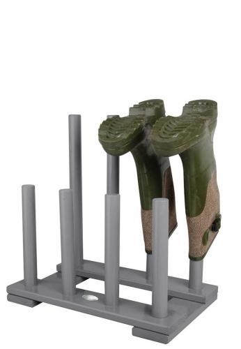 Esschert Design Deko Stand- Stiefelhalter aus lackiertem Holz, grau, modern für 4 Paar Gummistiefel von Esschert