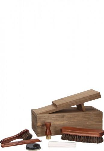 Esschert Design Schuhputzset / Kiste mit Schuhablage