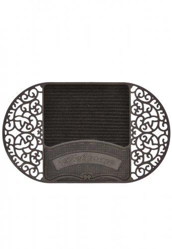 Esschert Design Esschert Gummi- Fußmatte oval mit Faserbereich WELCOME aus der Serie BEST FOR BOOTS