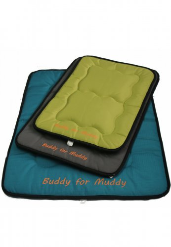 Fellafit Wende- Hundematte -BUDDY FOR MUDDY- flach