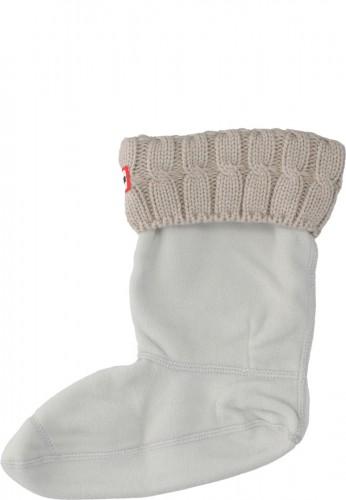 Hunter halbhohe Gummistiefel Socken HALF CARDIGAN grey mit Zopfmuster