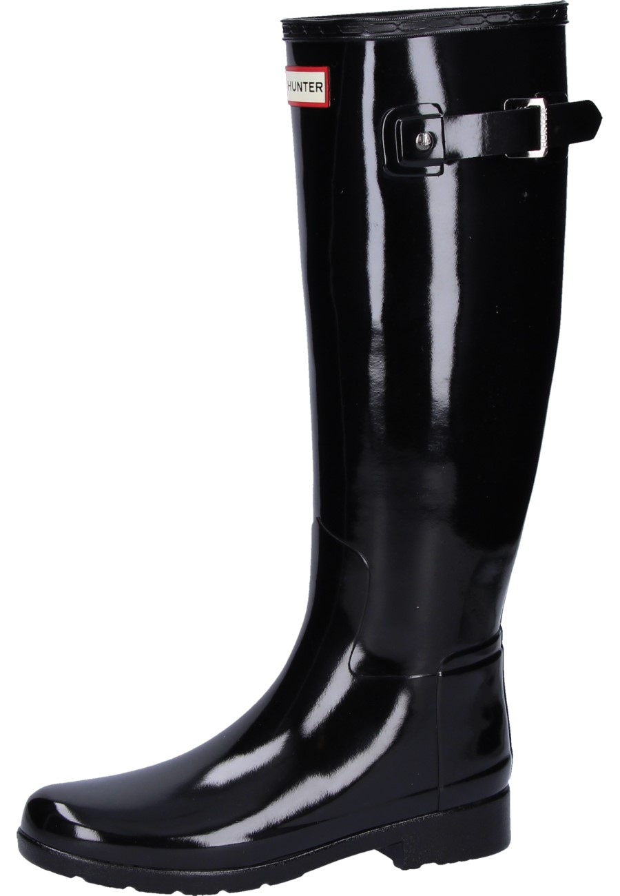 best cheap ce9da 30a12 Hunter Damen Gummistiefel ORIGINAL REFINED GLOSS black