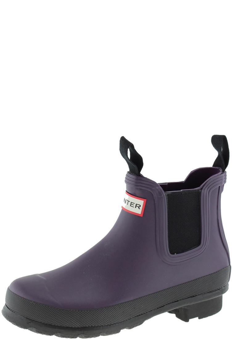 new styles 3168d a3890 Hunter Gummistiefel Womens Original Two Tone Chelsea Boots dark plum