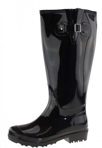 Wide Wellies Weitschaft Gummistiefel WIDE WELLIE black L
