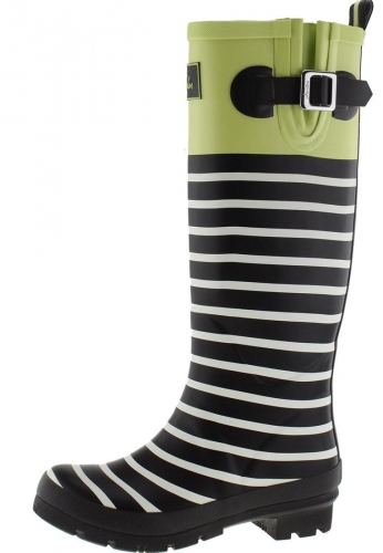 Joules Gummistiefel WELLYPRINT LIME BLOCK