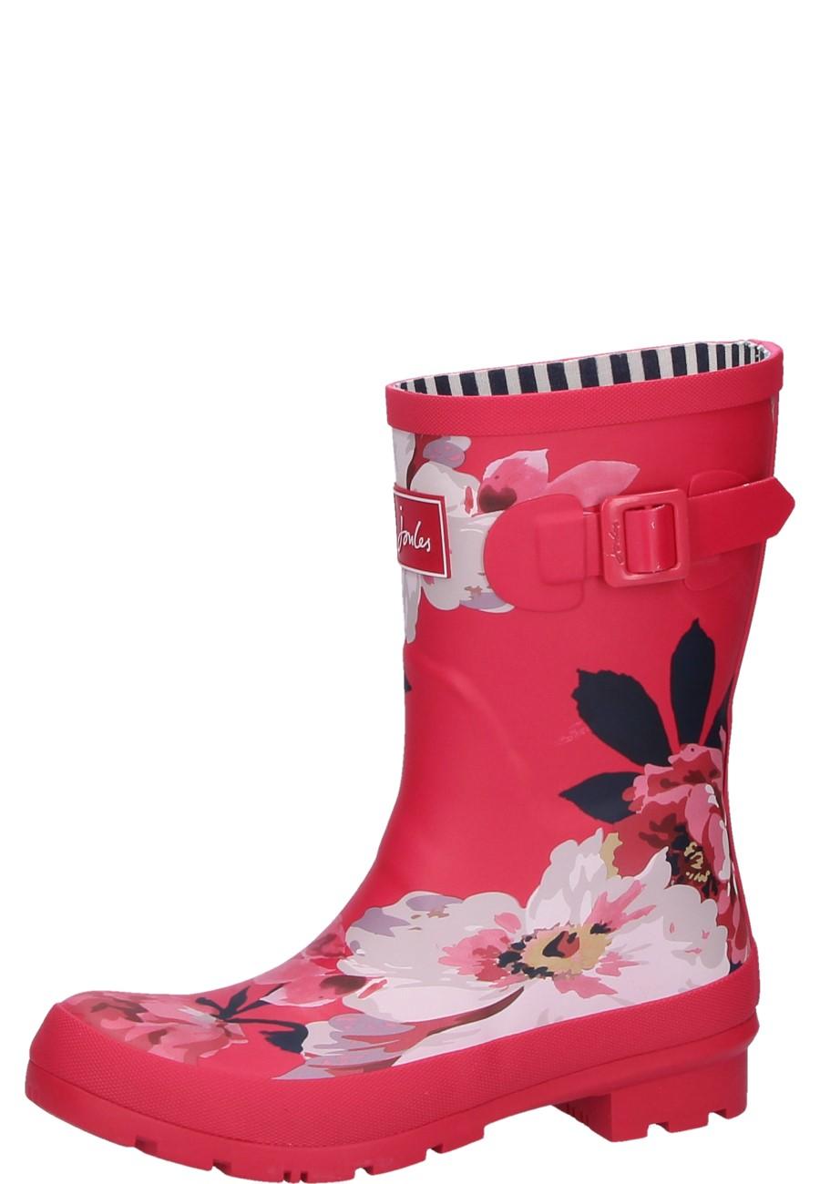 online store b7d71 f75a3 Joules kurzer Damen Gummistiefel RASPBERRY BLOOM PRINT pink
