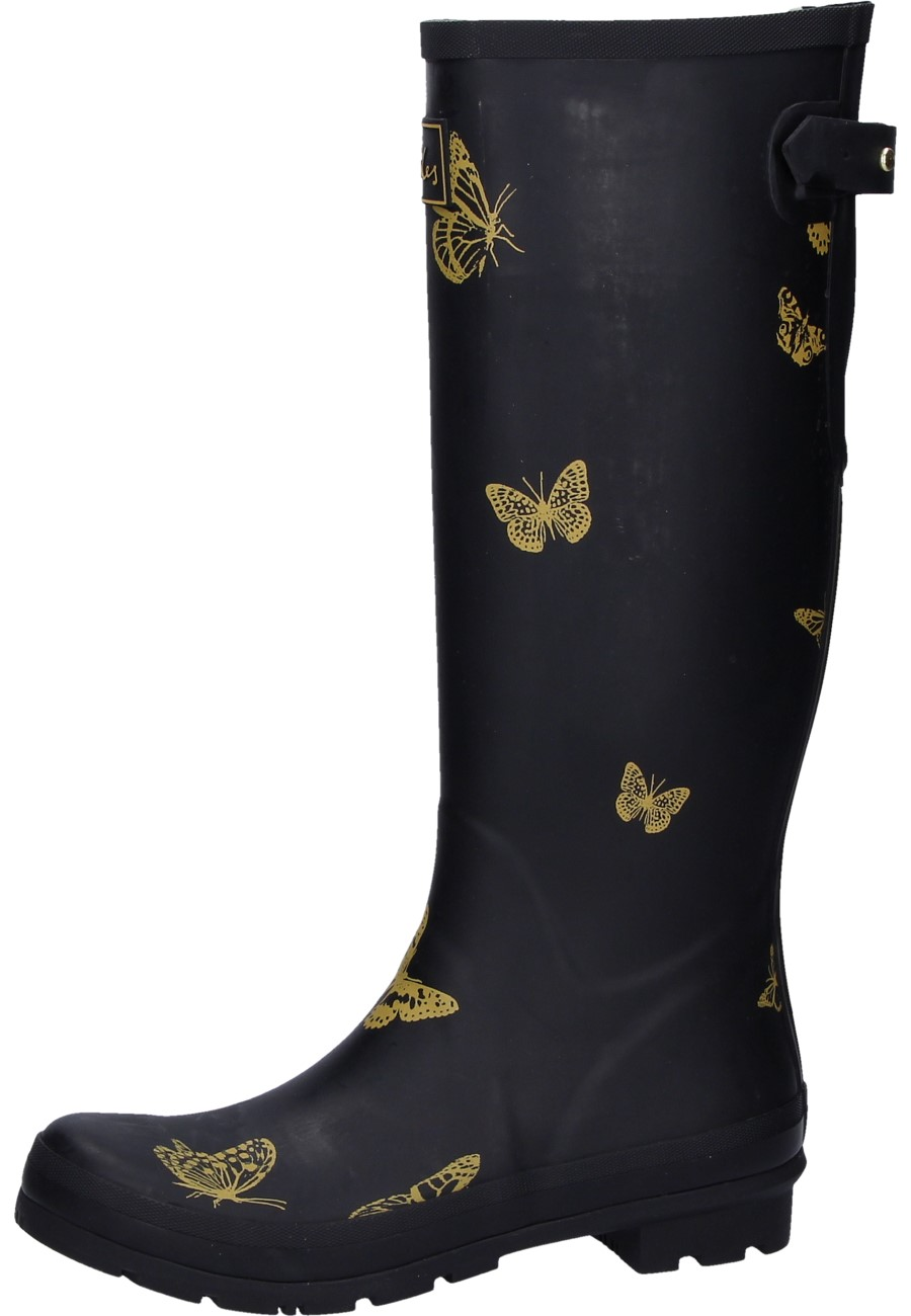 Joules Welly Print Black Butterfly