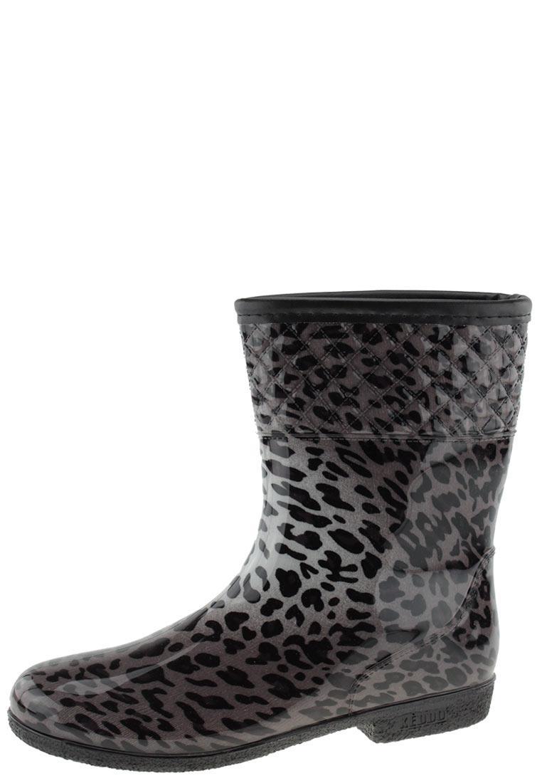 Damen Elegante Leo Gummistiefel Stiefelette Keddo Leoparden Braune Mit Print 6fyb7g