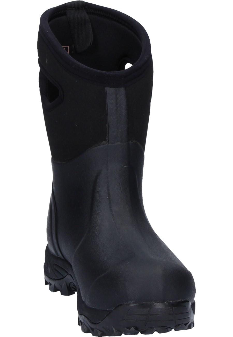 MAINWALKER SHORT black, fella Gummistiefel für Damen, robust, bequem, funktionell mit Cross Sohle