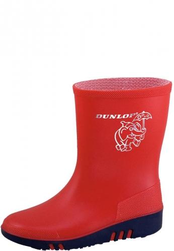 Rote Gummistiefel für Kinder - Dunlop Mini rot - robuste Kindergummistiefel von Dunlop
