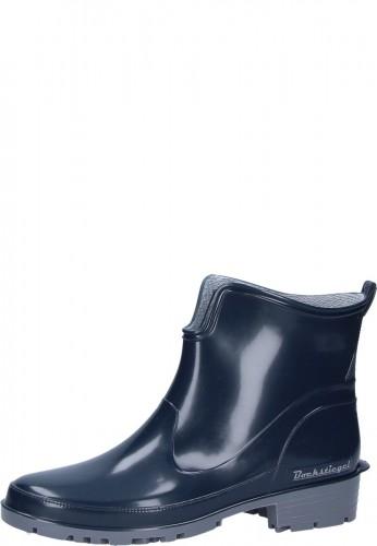 Gummistiefelette - ELKE - schwarze, preiswerte Damen Stiefelette in praktischer Kurzform