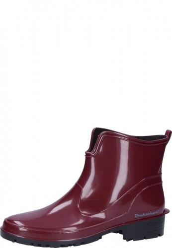 Gummistiefelette - ELKE - rote, preiswerte Damen Stiefelette in praktischer Kurzform