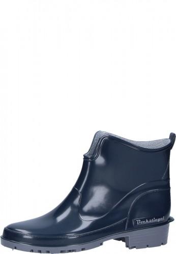 Gummistiefelette - ELKE - blaue, preiswerte Damen Stiefelette in praktischer Kurzform