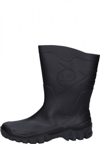 Preisgünstiger Kurz - Gummistiefel -Dunlop DEE - in schwarz für den Arbeits u. Freizeitbereich