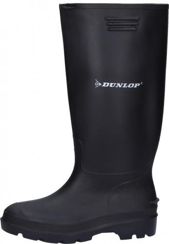 Schwarzer preiswerter Gummistiefel aus PVC von Dunlop für den Arbeits u. Freizeitbereich