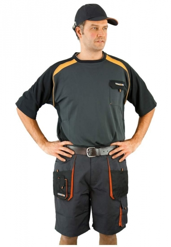 Berufskleidung - Beruf-T-Shirt halbarm grau der Marke Terratrend Job stark für Beruf und Freizeit