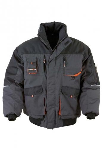 Terratrend Job Pilotenjacke mit wärmender PES Wattierung in grau der Marke Terratrend -die Berufsbekleidung -