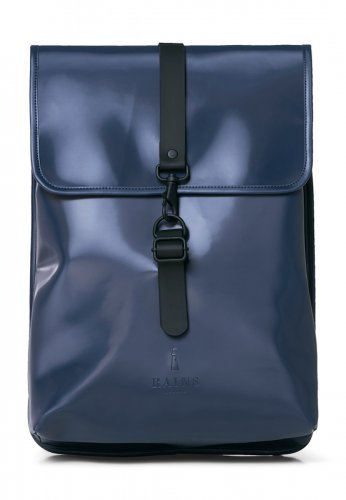 RAINS wasserdichter RUCKSACK in shiny blue