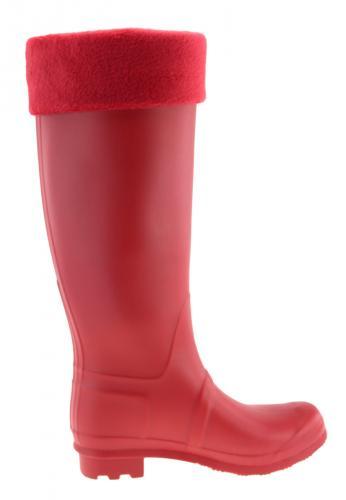 Gummistiefel HerausnehmbaremWärmendem Roter Innenschuh Aus Fleece Und Stulpe England Trend Mit 5qcASjRL34