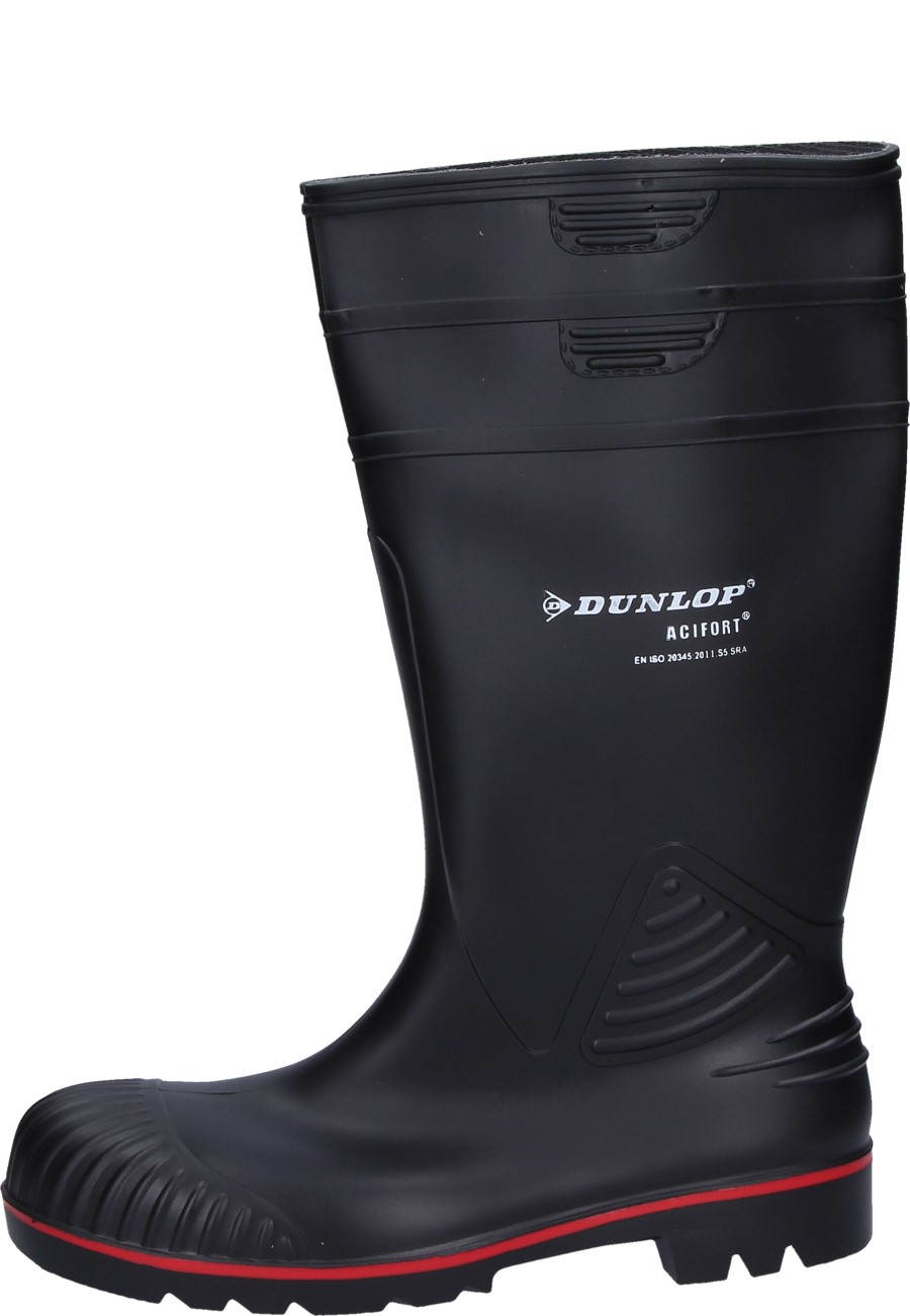 Steckdose online detaillierter Blick Rabatt bis zu 60% Schwarzer Gummistiefel - Dunlop Acifort mit Stahlkappe und Trittschutz  EN345 S5