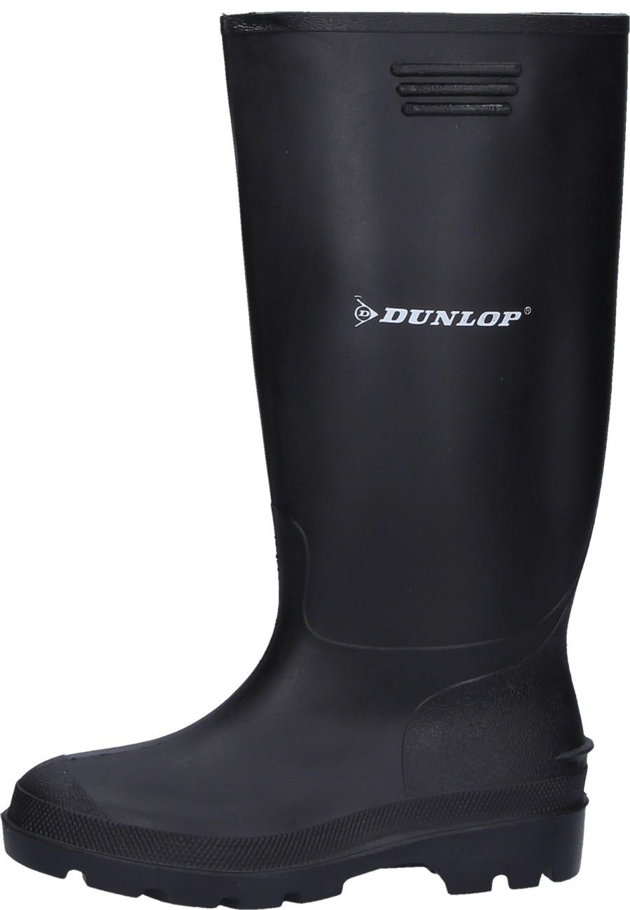 1f035a7272 Schwarzer preiswerter Gummistiefel aus PVC von Dunlop für den Arbeits u.