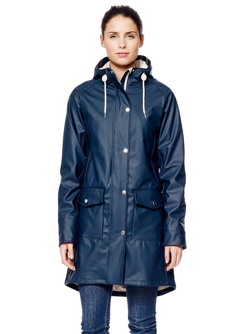 Damen Regenjacke Erna Raincoat Navyblue Von Tretorn