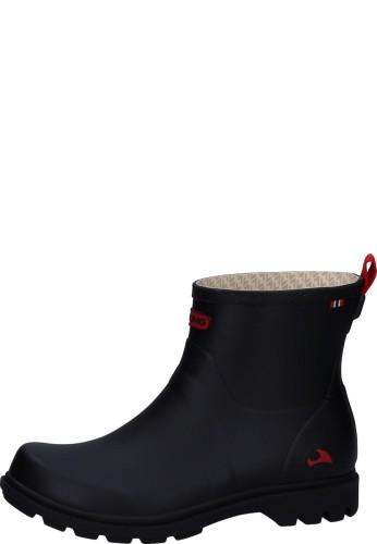 Viking Gummistiefelette - NOBLE black - Gummistiefel in neuem Design, schwarz, elegant, bequem