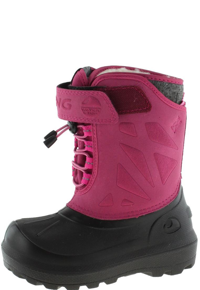 new concept c711a aded6 Viking Kinder Winter Gummistiefel NORDLYS black/dark pink