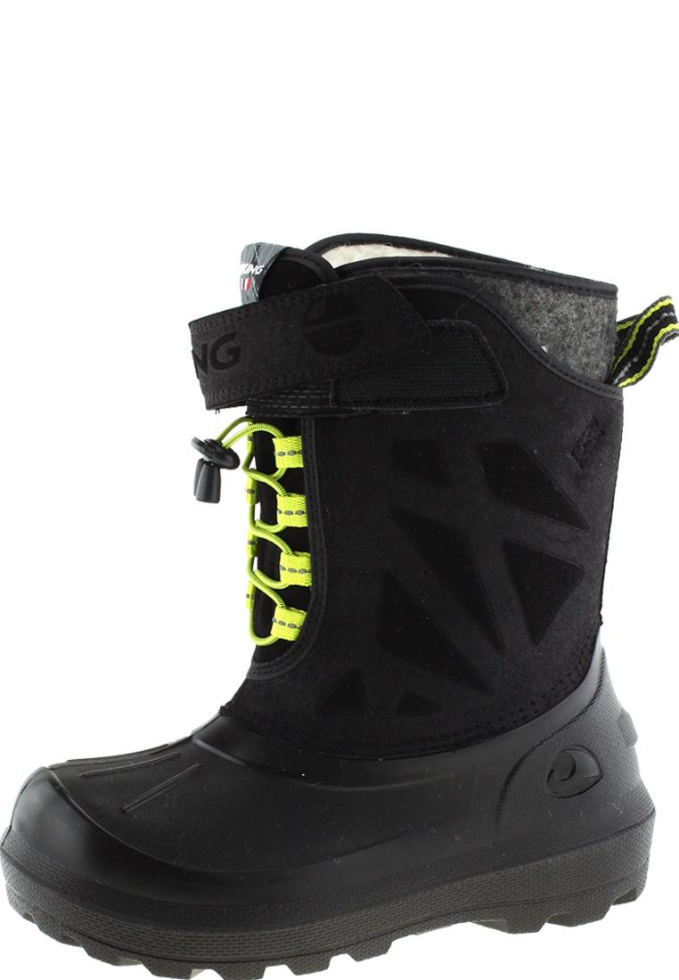 the latest 8fff4 43cbb Viking Kinder Winter Gummistiefel NORDLYS black/lime