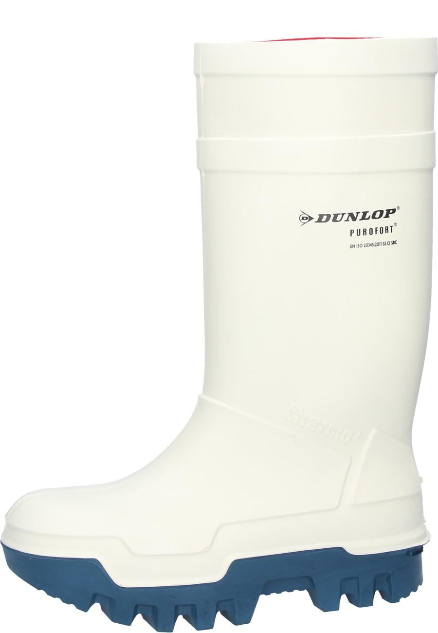 4bac5b82cfedcf Weisser Gummistiefel Dunlop Purofort thermo + mit Stahlkappe