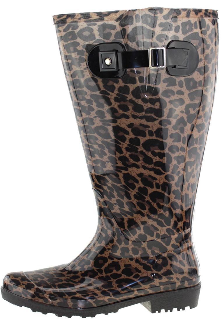 xxl gummistiefel wide wellies beige leopard mit weitschaft. Black Bedroom Furniture Sets. Home Design Ideas